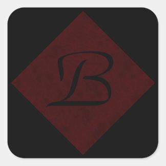 あずき色の赤いビロードの名前入りな家のカジノ スクエアシール