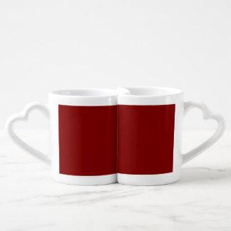 あずき色の赤 ペアカップ