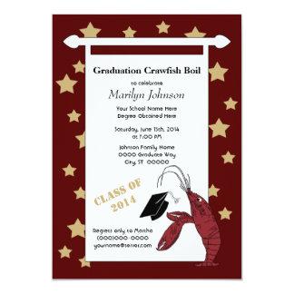 あずき色の金ゴールドのCrawfish/ロブスターは卒業を主演します カード