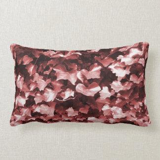 あずき色及びワインのキヅタの葉のLumbarの枕 ランバークッション