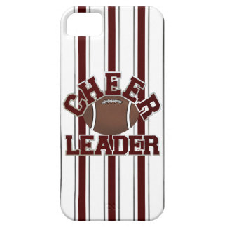 あずき色及び白いフットボールのチアリーダーのiPhone 5の箱 iPhone SE/5/5s ケース