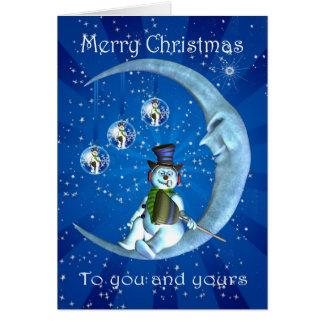 あなたおよびあなたのへのクリスマスカード、mooのsnoman カード