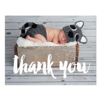 あなたおよびベビーの誕生の発表の郵便はがきを感謝していして下さい ポストカード