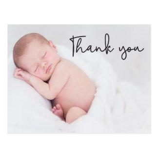 あなたおよびベビーの誕生の発表、原稿の文字を感謝していして下さい ポストカード
