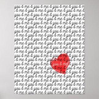 あなたおよび私バレンタインデーポスター愛プリント ポスター