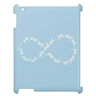 あなたおよび私無限場合の精通した光沢のあるiPadの場合 iPad カバー