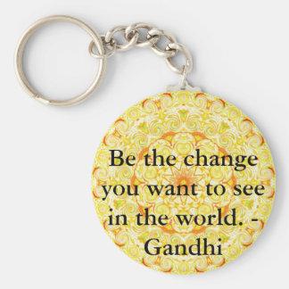 あなたが世界で見たいと思う変更があって下さい。 Gandi キーホルダー