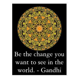 あなたが世界で見たいと思う変更があって下さい。 Gandi ポストカード