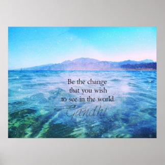あなたが世界で見たい変更があって下さい ポスター