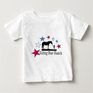 あなたが乗馬の星牧場ロゴと支えるショー ベビーTシャツ