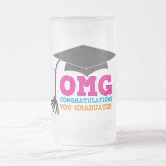 あなたが卒業させたOMGのcongratuations! フロストグラスビールジョッキ