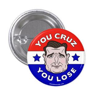 あなたが失うCruz、アンチテッドCruz 2016ボタンかピン 3.2cm 丸型バッジ