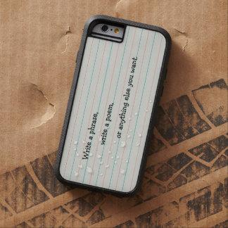 あなたが学校紙でほしい何でも書いて下さい iPhone 6 タフ・エクストリームケース