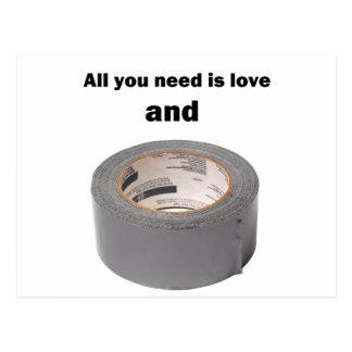 あなたが必要とするのは愛およびガムテープだけです 葉書き