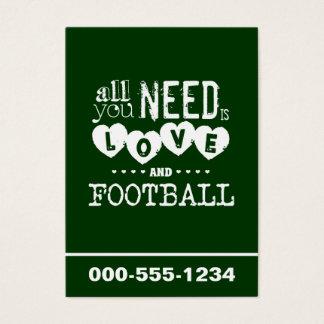 あなたが必要とするのは愛およびフットボールだけです 名刺