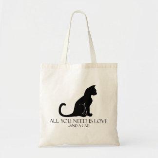 あなたが必要とするのは愛および猫だけです! トートバッグ