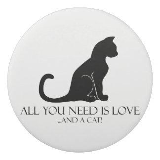 あなたが必要とするのは愛および猫だけです! 消しゴム