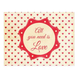 あなたが必要とするのは愛だけです ポストカード