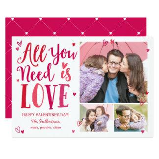 あなたが必要とするのは愛バレンタインデーの写真カードだけです 12.7 X 17.8 インビテーションカード