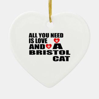 あなたが必要とするのは愛ブリストルCATのデザインだけです セラミックオーナメント