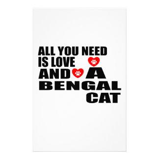あなたが必要とするのは愛ベンガルCATのデザインだけです 便箋