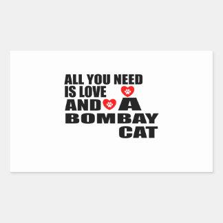 あなたが必要とするのは愛ボンベイCATのデザインだけです 長方形シール
