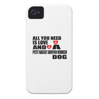 あなたが必要とするのは愛小さいバセット犬GRIFFON VENDEENだけです Case-Mate iPhone 4 ケース