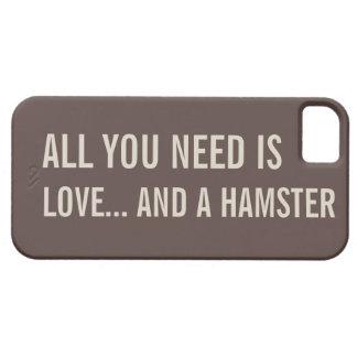あなたが必要とするのは愛…およびハムスターiPhone5の例だけです iPhone SE/5/5s ケース