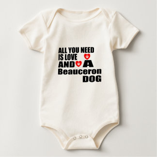 あなたが必要とするのは愛Beauceron犬のデザインだけです ベビーボディスーツ