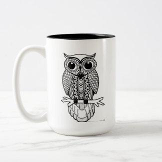 あなたが必要とする15ozフクロウは愛マグです ツートーンマグカップ