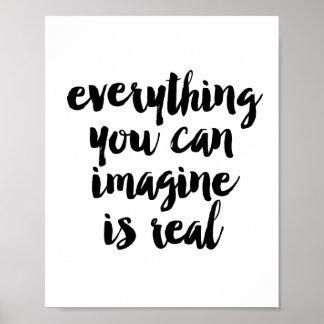 あなたが想像できるすべては実質です ポスター