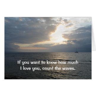 あなたが梳く波I愛を数えて下さい グリーティングカード