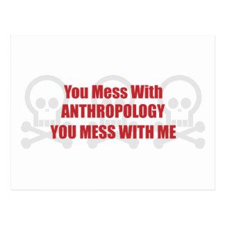 あなたが私と台なしにする人類学と台なしにします ポストカード
