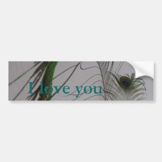 あなたが芸術の孔雀羽をつける© P Wherrell I愛 バンパーステッカー