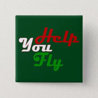 あなたが飛ばす助け 5.1CM 正方形バッジ
