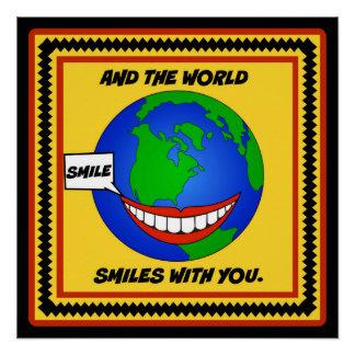 あなたとのスマイルそして世界のスマイル ポスター