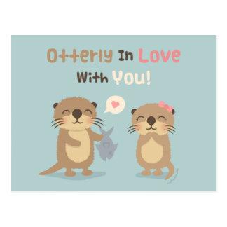 あなたとの愛のOtterlyしゃれのユーモアの郵便はがき ポストカード