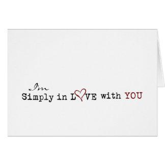 あなたとの愛単にで グリーティングカード