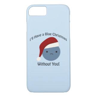 あなたなしの青いクリスマス! iPhone 8/7ケース