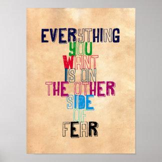 あなたによってがほしいすべては恐れの反対側にあります ポスター