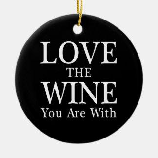 あなたによってがオーナメントとあるワインを愛して下さい セラミックオーナメント