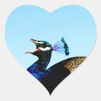 あなたに愛をpavoのcristatusの孔雀言って下さい ハートシール