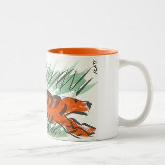 あなたのおなかにトラを置いて下さい ツートーンマグカップ