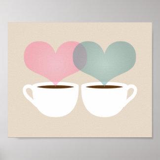 あなたのおよび私の物愛芸術のプリントのコーヒー・マグ ポスター