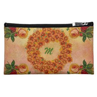 あなたのお母さんのためのモノグラムの花のスエードの化粧品のバッグ コスメティックバッグ
