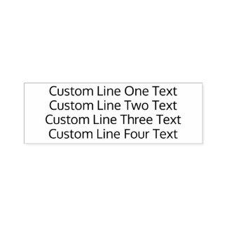 あなたのお気に入りのな文字- 4ラインSans Serif --を加えて下さい セルフインキングスタンプ