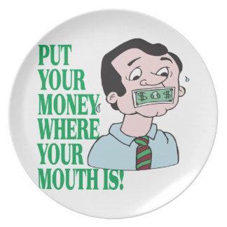 あなたのお金を置いて下さい プレート