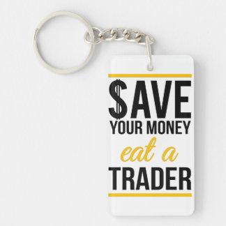 あなたのお金を食べます貿易業者を貯めて下さい キーホルダー
