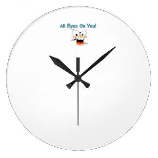 あなたのすべての目時計 ラージ壁時計