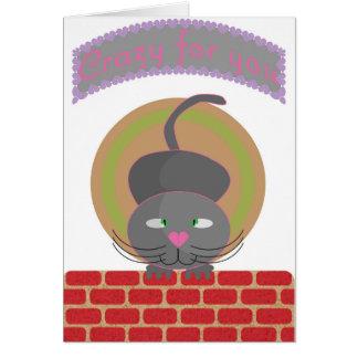 あなたのために熱狂する猫 カード
